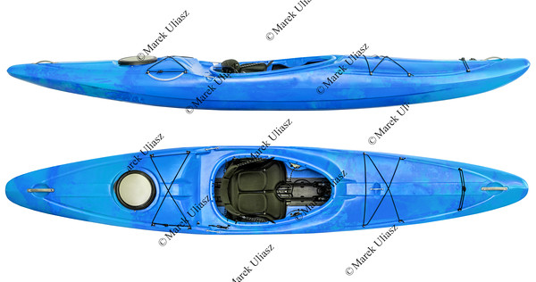 river running kayak isolated