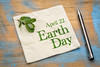 April 22 Earth Day on napkin
