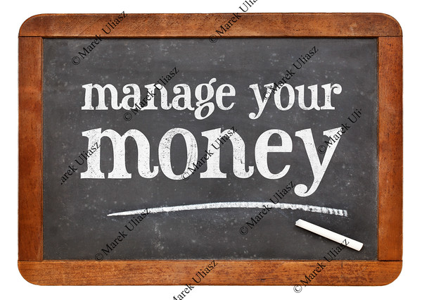 manage your money blackboard sign