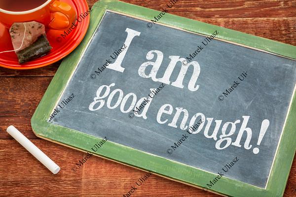 I am good enough - blackboard