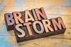 brainstorm word in wood type