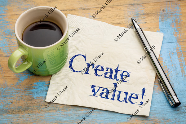 create value reminder on napkin