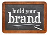 build your brand blackboard sign