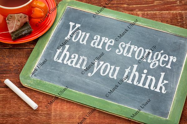You are stronger - motivaitonal message