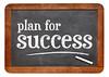 Plan for success - blackboard sign
