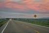 highway at dusk in Colorado