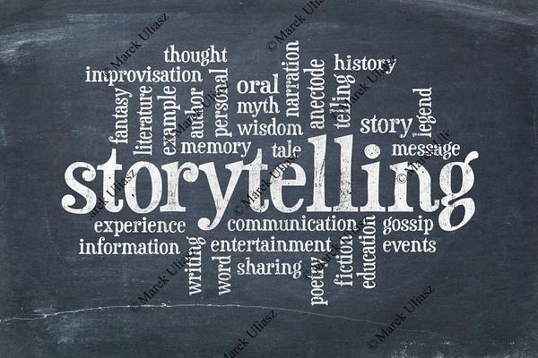storytelling  word cloud