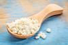 spoon of whey protein powder