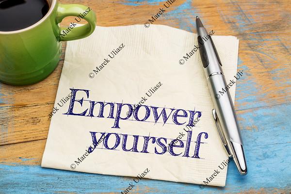 empower yourself - napkin note