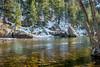 Poudre River sunny winter day