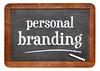 personal branding blackboard sign