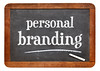 personal branding blackboard sign