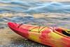 Bow of whitewater kayak