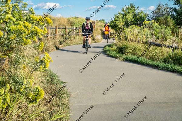 Morning biking on Poudre  River Trail