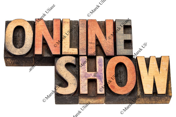 online show word abstract in wood type