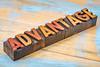advantage word in wood type