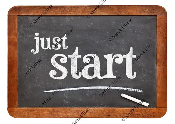 just start blackboard sign