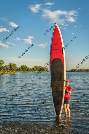 paddler and paddlleboard