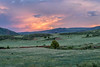 dusk over Colorado foothills