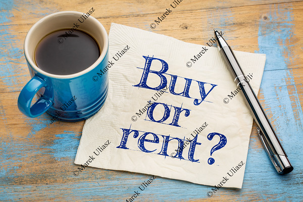 Buy or rent question on napkin