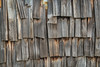 weathered wooden shingles