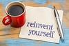 reinvent yourself - napkin handwriting