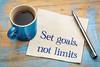Set goals, no limits reminder