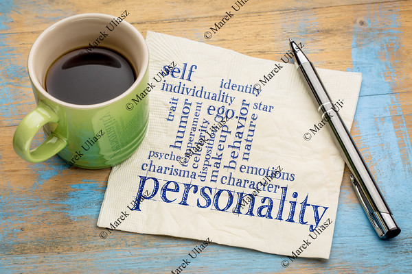 personality and character word cloud