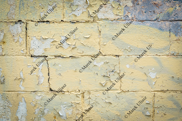 yellow painted grunge wall texture