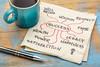 success mindmap on napkin