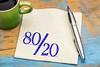 Pareto principle on napkin
