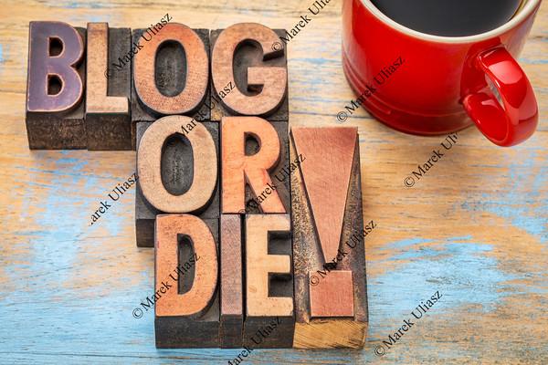 Blog or die typography