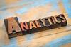 analytics - wood type banner