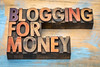 blogging for money banner