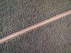 road and sagebrush aerial view