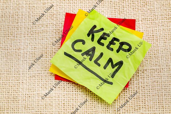 Keep calm reminder note