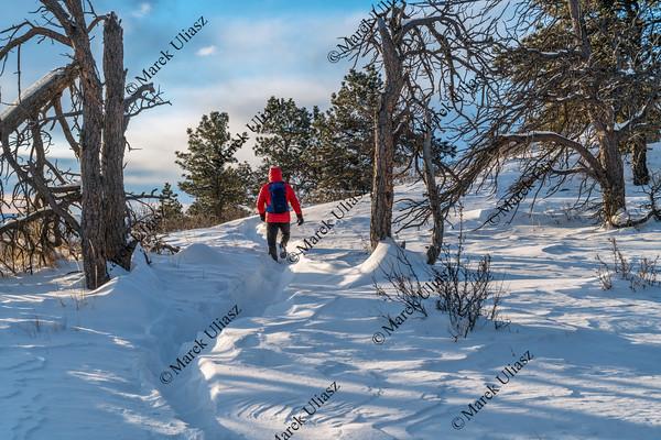 winter hiking in Colorado