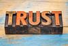 trust in vintage letterpress wood type