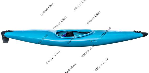whitewater kayak isolated