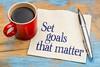 Set goals that matter on napkin