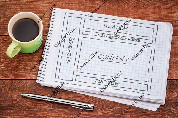 designing website layout