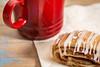 cookie, espresso coffee and napkin