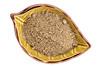 chia seed flour in ceramic bowl