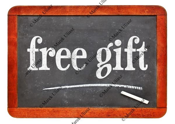 free gift blackboard sign