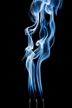 incense smoke abstract