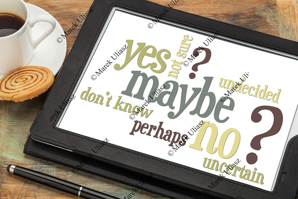 yes, no, maybe word cloud