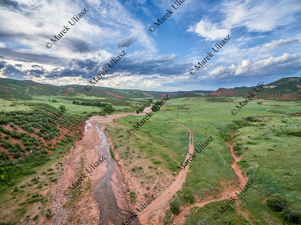 mountain valley with creek in Colorado