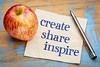 create, share inspire motivational words