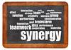 synergy and teamwork concept