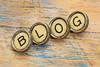 blog word in typewriter keys